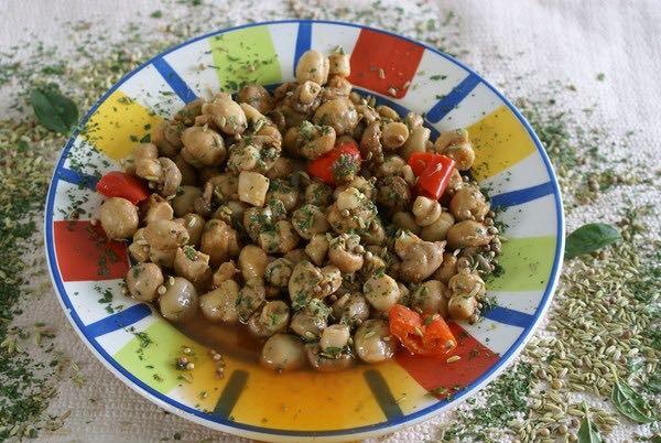 champignons marinade provençale
