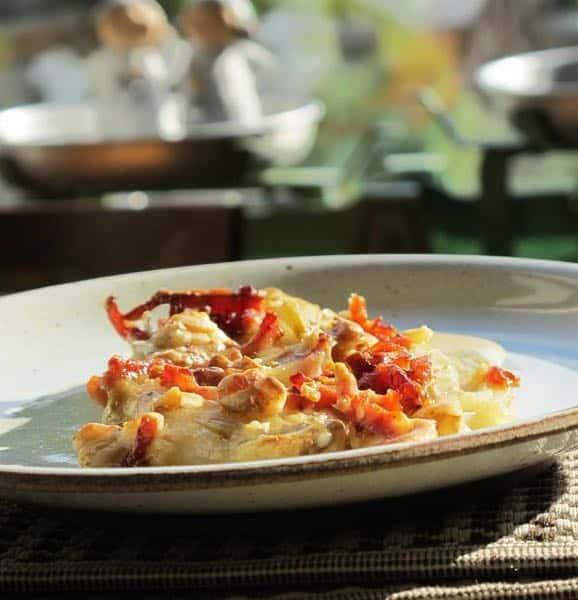Gratin de crevettes aux chicons cuisine flammande for La bonne cuisine