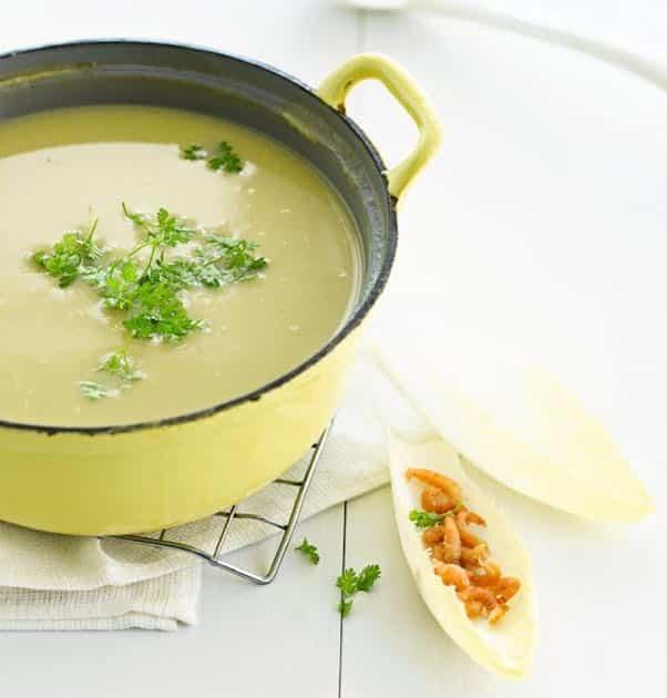 Potage au chicon la soupe exquise de bruxelles la for La bonne cuisine