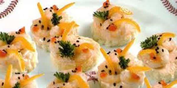 canape aux crevettes