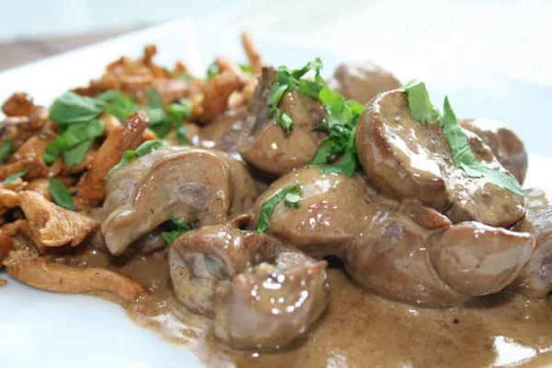 rognon de veau aux champignons