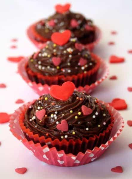 Petit gâteau au chocolat de la Saint Valentin