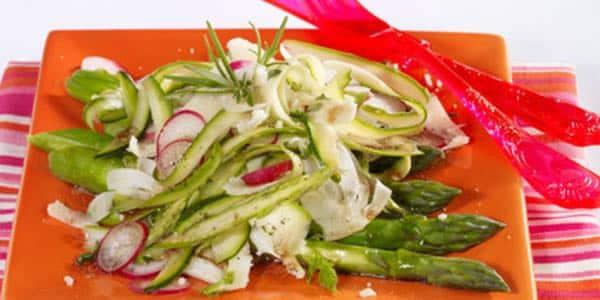 salade italienne aux asperges et aux cepes