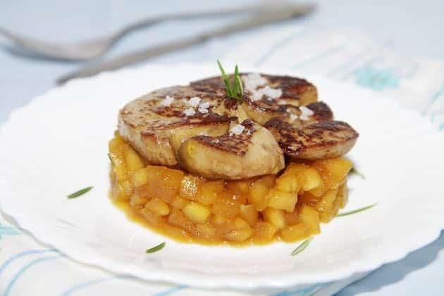 foie gras chaud aux pommes