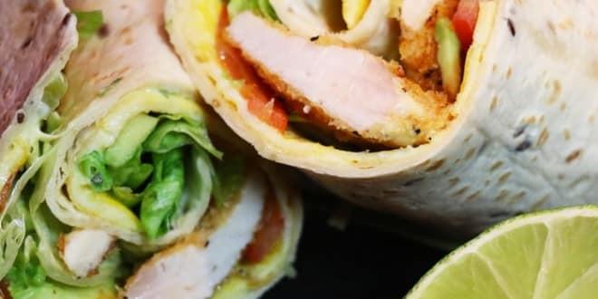 wrap au poulet croustillant