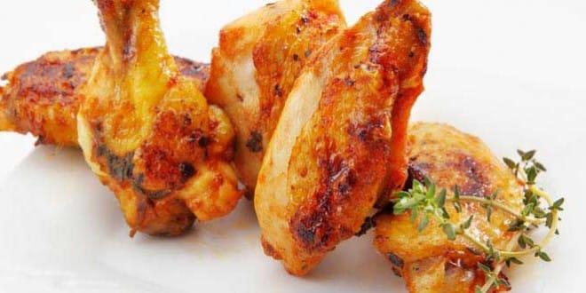 ailes de poulet à la braise