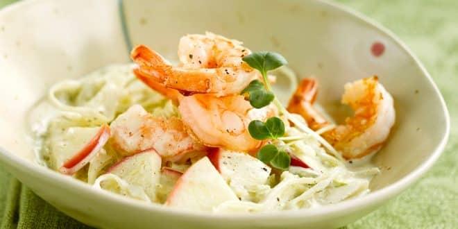 Salade de chou aux crevettes