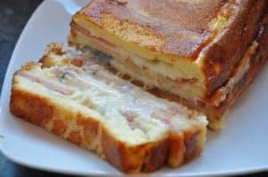 Croque cake au jambon et au fromage