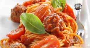 spaghettis aux boulettes de viande recette